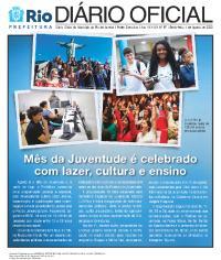 Capa do Diário Oficial.